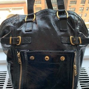 Yves Saint Laurent Bags - YSL black patent Downtown Tote